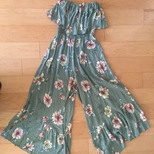 Pants - Strapless jumpsuit